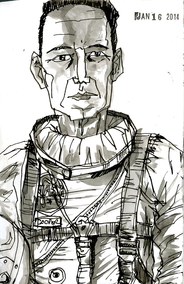 detailed drawings of astronauts - photo #15